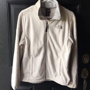 North Face Fuzzy White Jacket